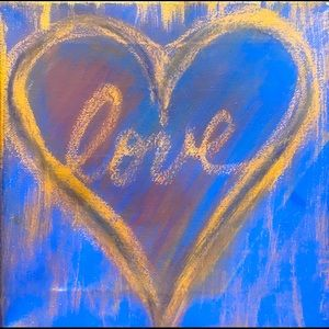 Love Painting in Periwinkle & Gold!